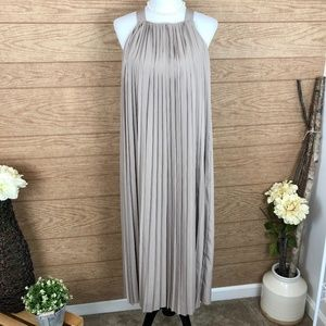 Kate Spade Saturday Neat Pleat Taupe Midi Dress